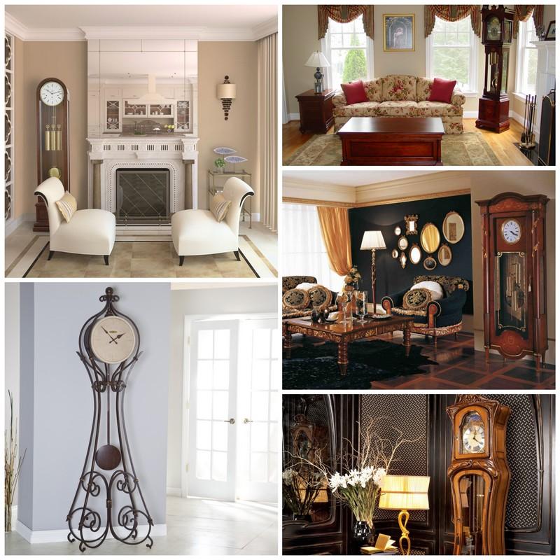Напольные часы в интерьере вашего дома