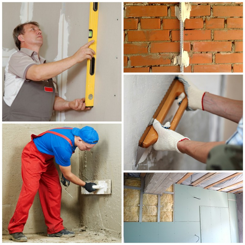 Выравнивание стен - технологии ремонта