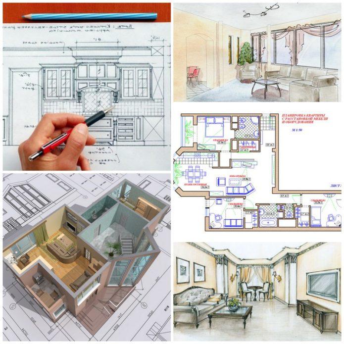 Создание дизайн-проекта и ремонтные работы