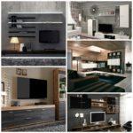 Стенка под телевизор — современный интерьер
