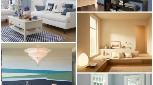 Окрашивание стен – альтернативный метод оформления интерьера