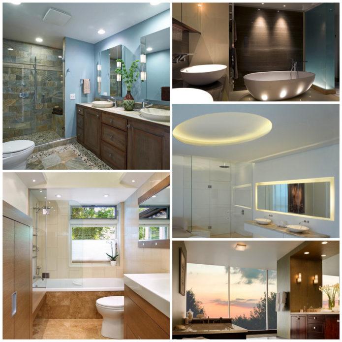 Освещение в ванной комнате - создаем красивый интерьер