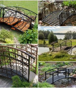 Кованые мостики для сада или дачи: оригинальный декор
