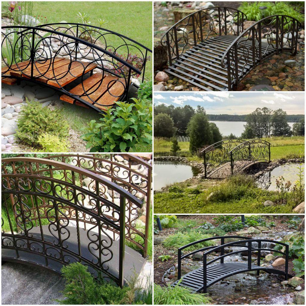 Кованые мостики для сада или дачи оригинальный декор