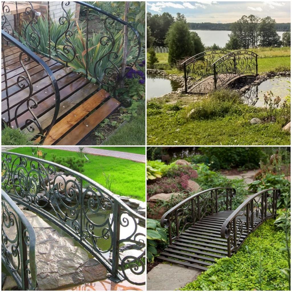 Кованые мостики для сада в ландшафтном дизайне