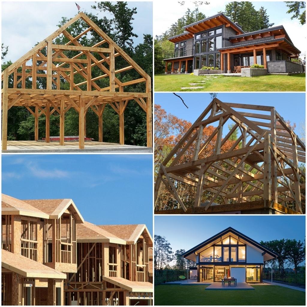 Строительство каркасных деревянных домов - фахверковые дома